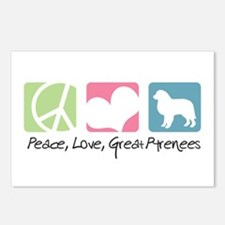 Peace, Love, Great Pyrenees Postcards (Package of
