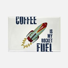 Coffee is my Rocket Fuel Rectangle Magnet
