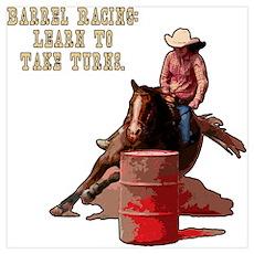 Barrel Racing, Take Turns. Poster