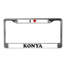 I Love Konya License Plate Frame