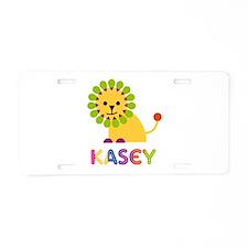 Kasey the Lion Aluminum License Plate