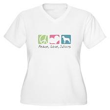 Peace, Love, Swissys T-Shirt