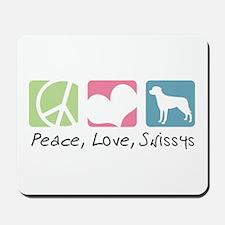 Peace, Love, Swissys Mousepad