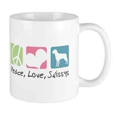 Peace, Love, Swissys Mug
