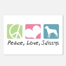 Peace, Love, Swissys Postcards (Package of 8)