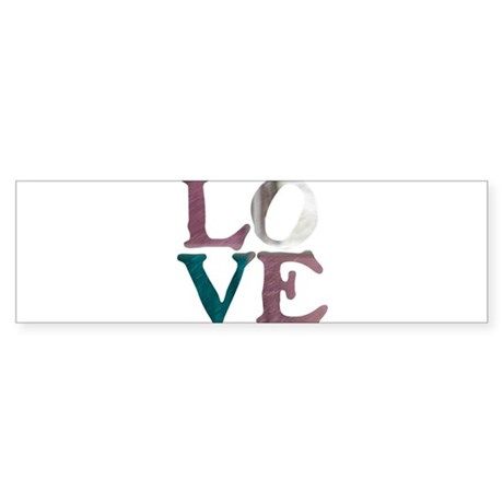 LOVE IS REAL STAINED GLASS WI Sticker (Bumper)