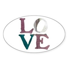 LOVE IS REAL STAINED GLASS WI Decal
