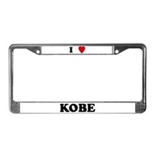 I Love Kobe License Plate Frame