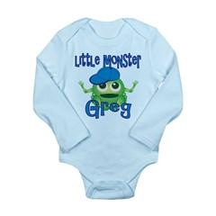 Little Monster Greg Long Sleeve Infant Bodysuit