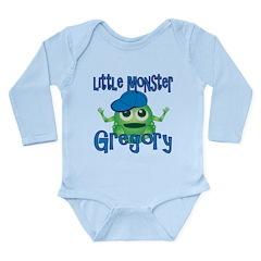 Little Monster Gregory Long Sleeve Infant Bodysuit