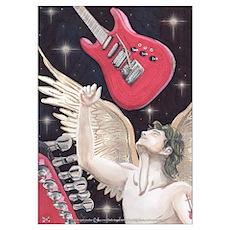 Guitar Rock Angel Poster