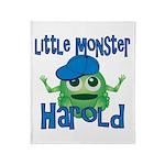 Little Monster Harold Throw Blanket
