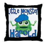 Little Monster Harold Throw Pillow