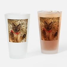 FPG Xmas Cat III Drinking Glass