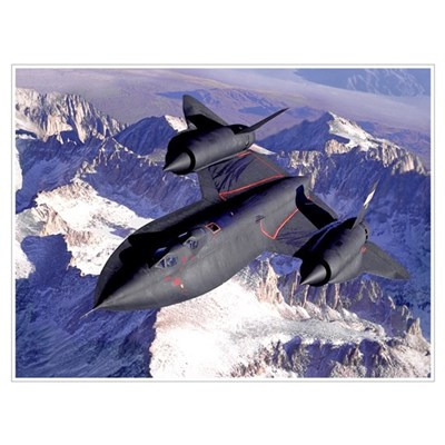 NASA SR-71 Blackbird Canvas Art