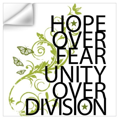 Obama Vine Half - Over Division Wall Decal
