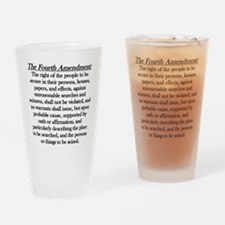 Fourth Amendment Drinking Glass