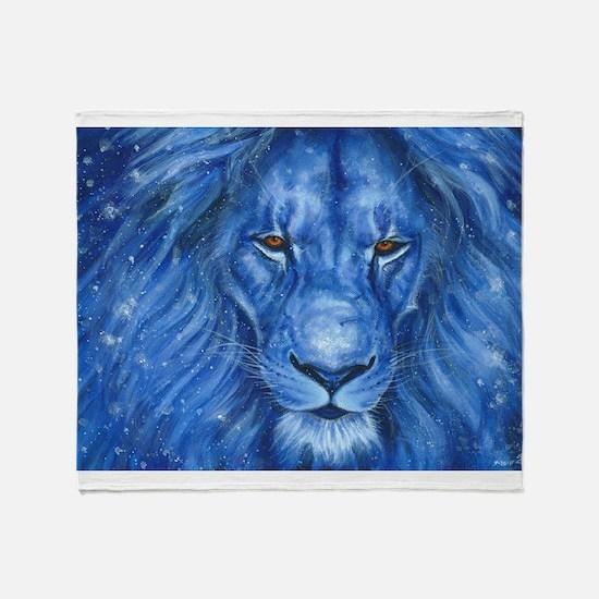 Winter Lion Throw Blanket