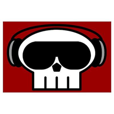 Huge Skull DJ Poster