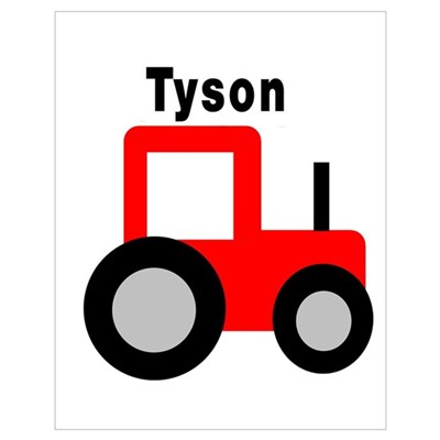 Tyson - Red Tractor Poster