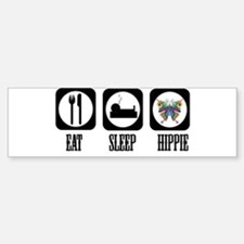Eat Sleep Hippie! Sticker (Bumper)