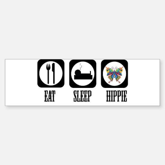 Eat Sleep Hippie! Sticker (Bumper)