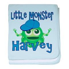 Little Monster Harvey baby blanket