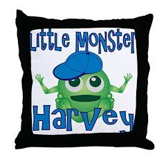 Little Monster Harvey Throw Pillow