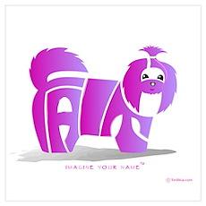 Faith Pink Shihtzu Poster