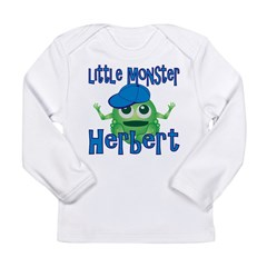 Little Monster Herbert Long Sleeve Infant T-Shirt