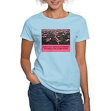 """""""Bird Flu""""  Women's Pink T-Shirt"""