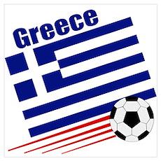 Greece Soccer Team Poster