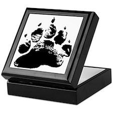BLACK ABSTRACT BEAR PAW Keepsake Box
