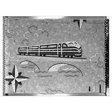 Train Linoleum Poster