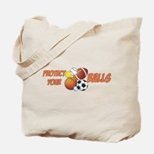 Protect Your Balls Tote Bag