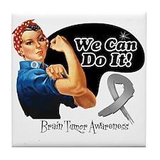 Brain Tumor We Can Do It Tile Coaster