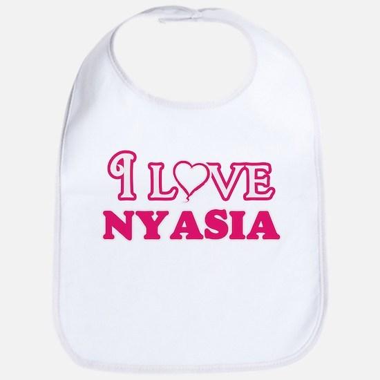 I Love Nyasia Baby Bib