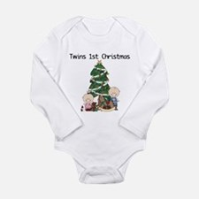 Twins First Christmas Long Sleeve Infant Bodysuit