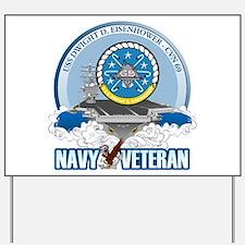 CVN-69 USS Eisenhower Yard Sign