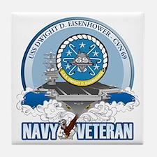 CVN-69 USS Eisenhower Tile Coaster