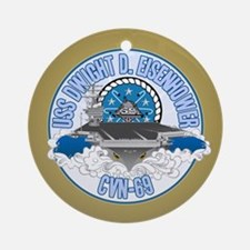 CVN-69 USS Eisenhower Ornament (Round)