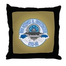 CVN-69 USS Eisenhower Throw Pillow