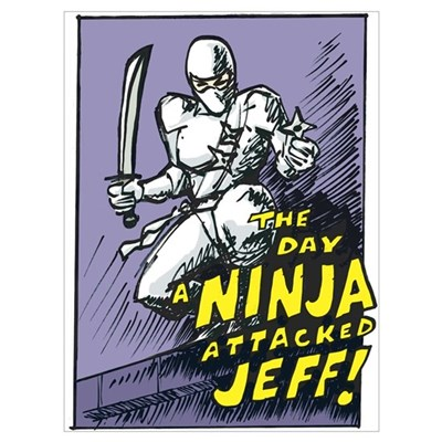 Day a Ninja Attacked Jeff Canvas Art