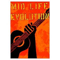 MID LIFE EVOLUTION (orange) Poster