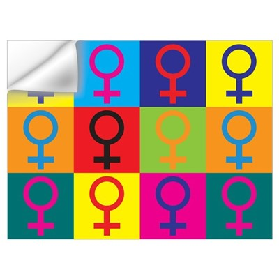 Feminism Pop Art Wall Decal