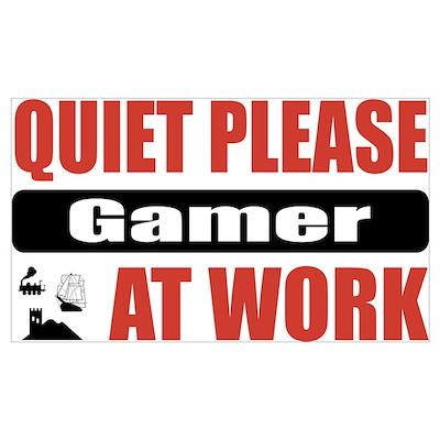 Gamer Work Poster