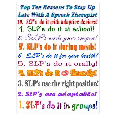 Up Late SLP Top Ten Poster