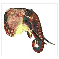Elephant Head Poster