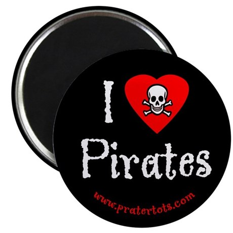"I (heart) Pirates 2.25"" Magnet (10 pack)"