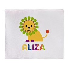 Aliza the Lion Throw Blanket